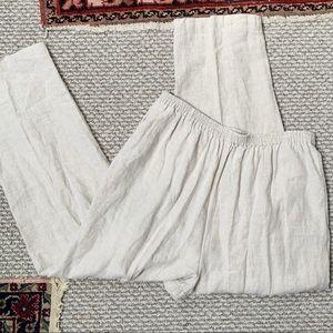 Eskandar Straight Leg Breezy Linen Trousers